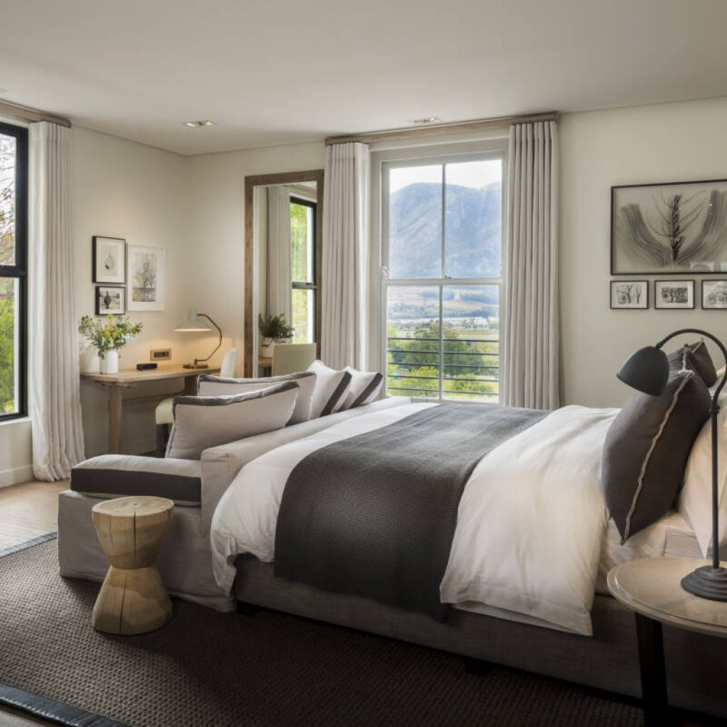 Levalux Cape Dutch Manor House Bedroom Franchhoek South Africa